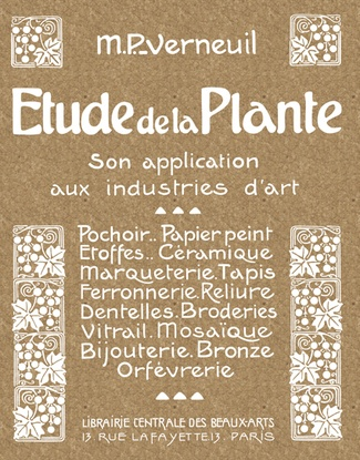Couverture plat 1 Étude de la plante, Son application aux industries d'art